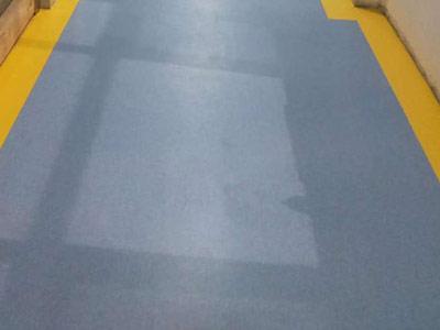 临沂塑胶地板施工案例